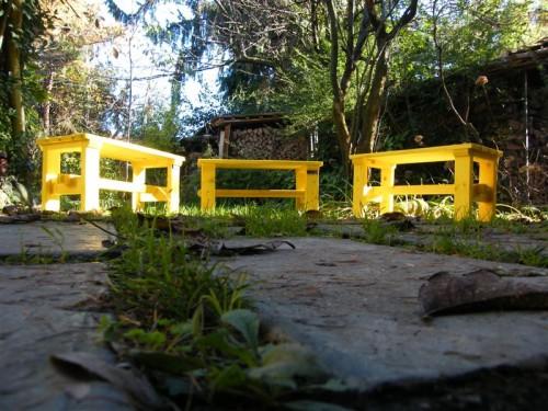 Panche con legno riciclato